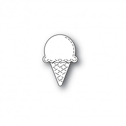 Poppy Stamps Stanzschablone - Whittle Ice Cream Cone