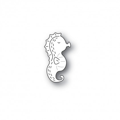 Poppy Stamps Stanzschablone - Whittle Seahorse