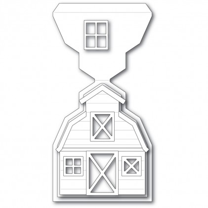 Poppy Stamps Stanzschablone - Country Barn Pop Up Easel Set