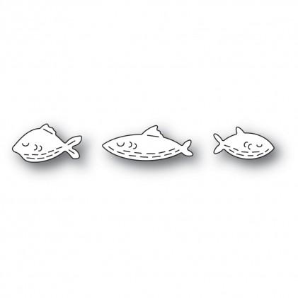 Poppy Stamps Stanzschablone - Whittle Fish Trio