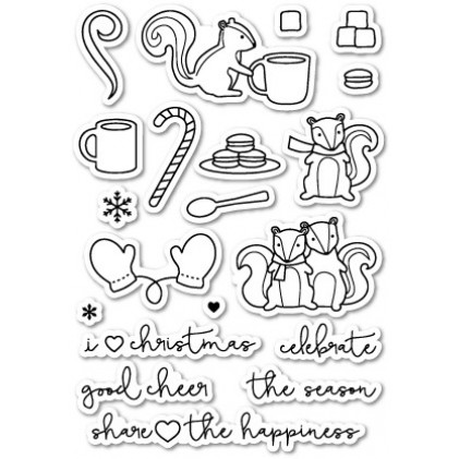 Poppy Stamps Stempel - Cup of Cheer Clear Stamp Set