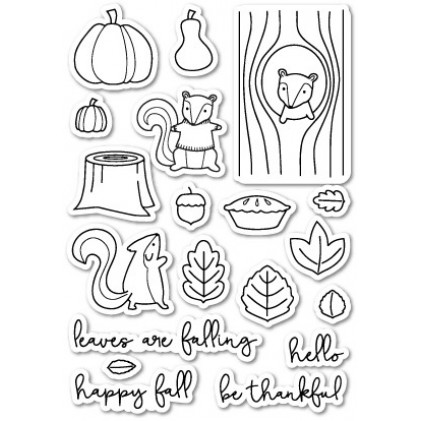 Poppy Stamps Stempel - Falling For You Clear Stamp Set