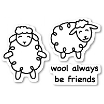 Poppy Stamps Stempel - Wool Be Friends Clear Stamp Set
