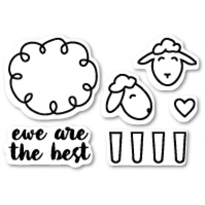 Poppy Stamps Stempel - Ewe Are the Best Clear Stamp Set
