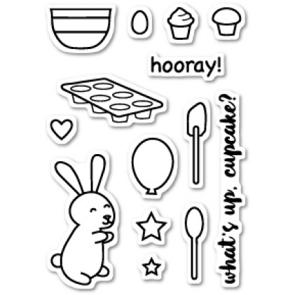 Poppy Stamps Stempel - Cupcake Party Clear Stamp Set