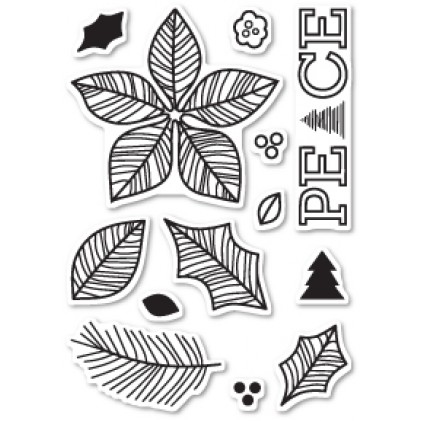 Poppy Stamps Stempel-Set - Poinsettia Peace