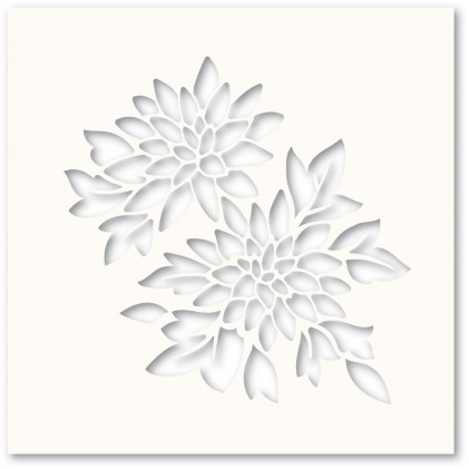 Poppy Stamps Template - Chrysanthemum Stencil