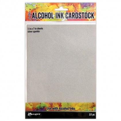 Ranger Alcohol Ink Surfaces Silver Sparkle 5x7