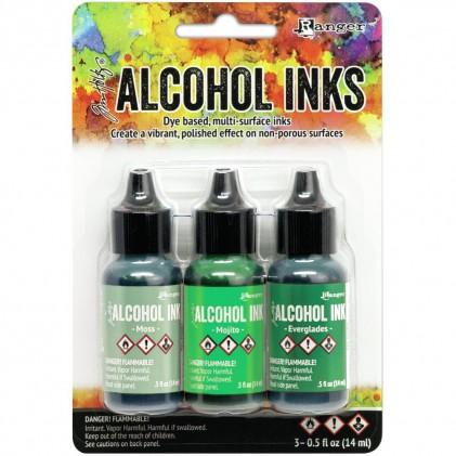 Adirondack Alcohol Inks - 3er Set Mint/Green Spectrum