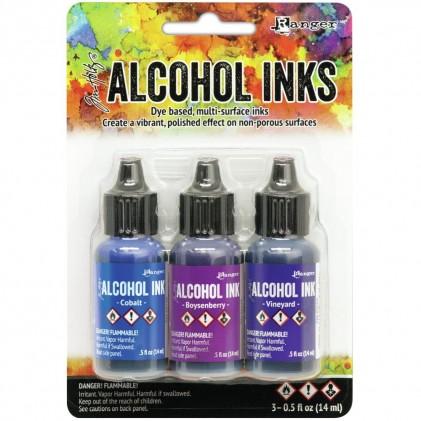 Adirondack Alcohol Inks - 3er Set Indigo/Violet Spectrum