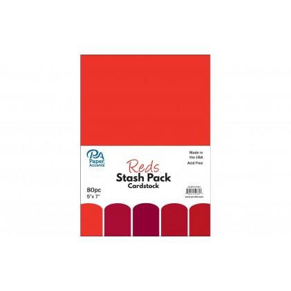 Paper Accents Stash Pack 40 Blatt - Reds