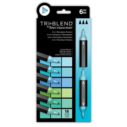 Spectrum Noir TriBlend Markers - Coastal Blends