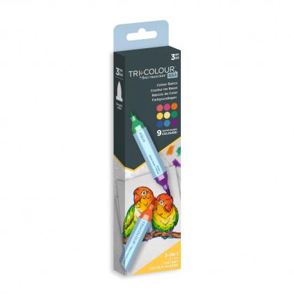 Spectrum Noir TriColour Aqua Markers 9 Farben - Colour Basics