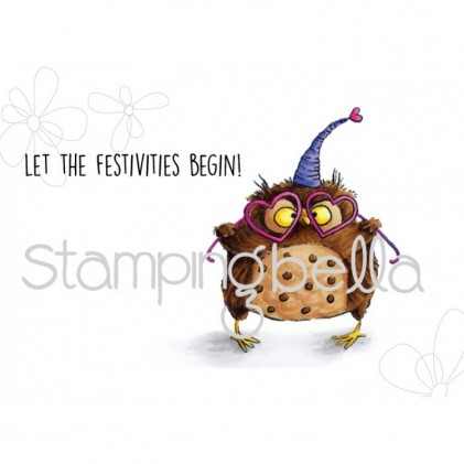 Stamping Bella Cling Stamps - Owliver Loves To Celebrate