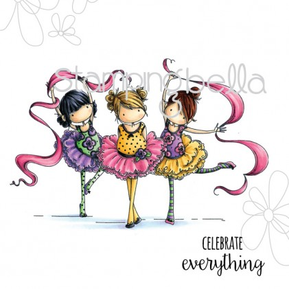 Stamping Bella Cling Stamps - Tiny Townie Dancers Lia, Zia & Pia