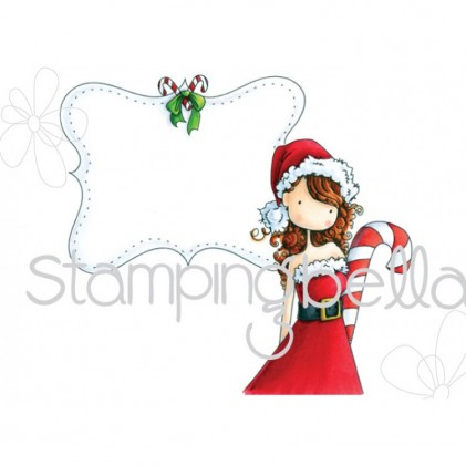 Stamping Bella Cling Stamps - Uptown Girl Chrystal's Christmas Label