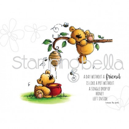 Stamping Bella Cling Stamps - Honeybear Stuffies