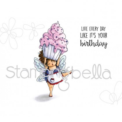 Stamping Bella Cling Stamps - Edna With A Cupcake On Top