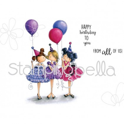 Stamping Bella Cling Stamps - Tiny Townie Birthday Party