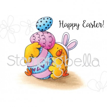 Stamping Bella Cling Stamps - Easter Bunny Chick