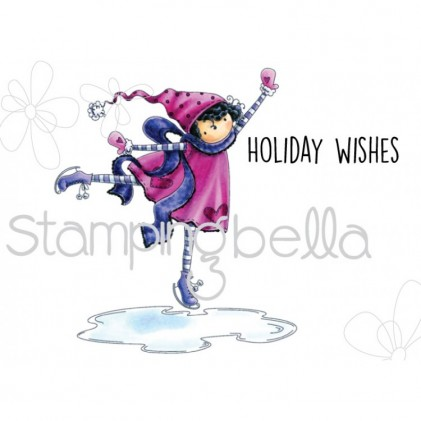 Stamping Bella Cling Stamps - Tiny Townie Skylar Loves To Skate
