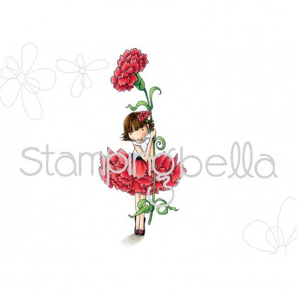 Stamping Bella Cling Stamps - Tiny Townie Garden Girl Carnation