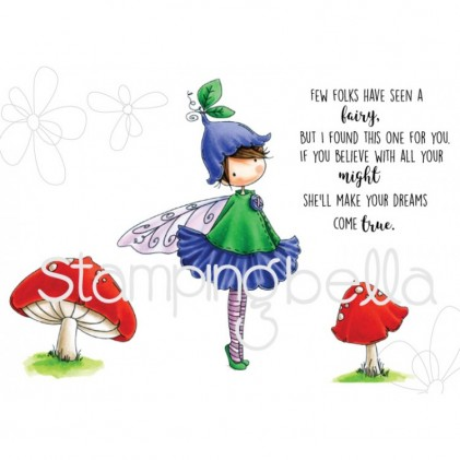 Stamping Bella Cling Stamps - Tiny Townie Fairy Garden Fairy
