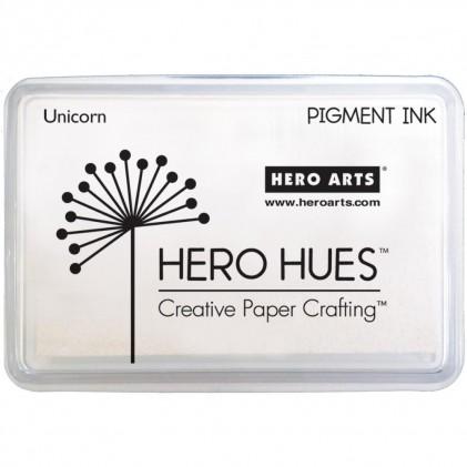 Hero Hues Pigment-Stempelkissen - Unicorn Weiß