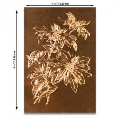 Sizzix 3D Embossing Folder Prägeschablone - Poinsettia