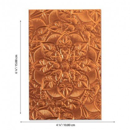 Sizzix 3D Embossing Folder Prägeschablone - Floral Mandala