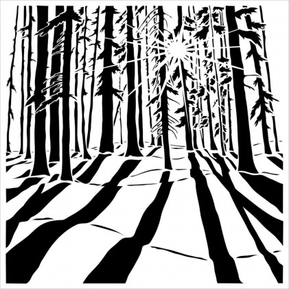"Crafter's Workshop Template 6""X6"" - Sunlit Forest"