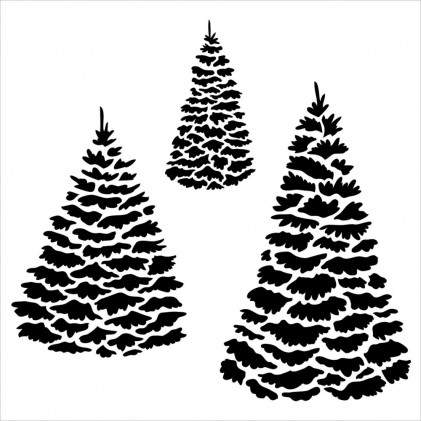 "Crafter's Workshop Template 6""X6"" - Evergreens"