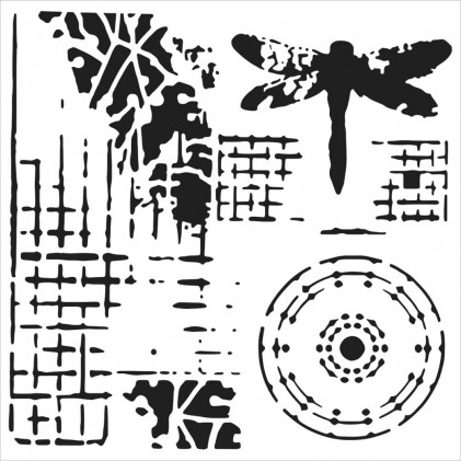 "Crafter's Workshop Template 6""X6"" - Screenprint"