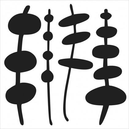 "Crafter's Workshop Template 6""X6"" - Pod on Sticks"