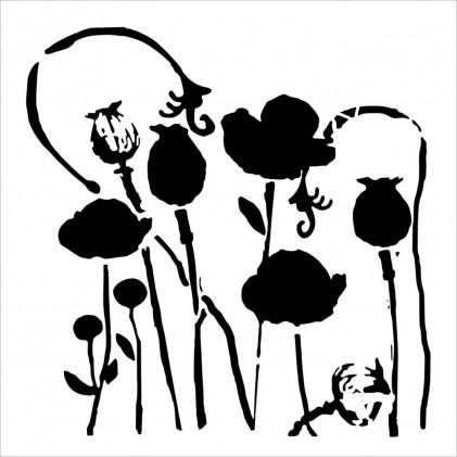 Crafter's Workshop Template 6X6 - Poppy Garden