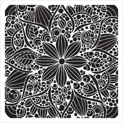 "Crafter's Workshop Template 6""X6"" - Doodle Bloom"