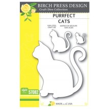 Birch Press Stanzschablone - Purrfect Cats
