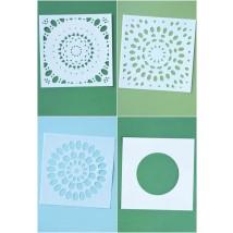 Birch Press Template Set - Thankful Mandala Stencil Set