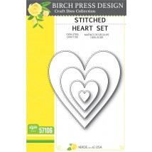 Birch Press Stanzschablone - Stitched Heart Set