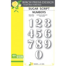 Birch Press Stanzschablone - Sugar Numbers