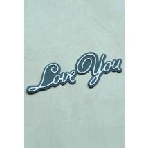 Birch Press Stanzschablone - Handwritten Love You and Outline