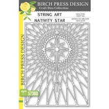 Birch Press Stanzschablone - String Art Nativity Star