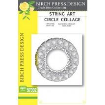 Birch Press Stanzschablone - String Art Circle Collage