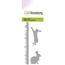 CraftEmotions Stanzschablone - Gräser und Hasen