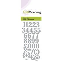 CraftEmotions Stanzschablone - Zahlen