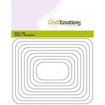 CraftEmotions Stanzschablone - Rechteckige Rahmen