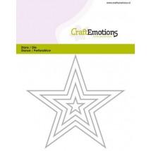 CraftEmotions Stanzschablone - Sterne mit Kontur