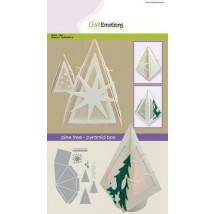 CraftEmotions Stanzschablone - Pyramiden-Box