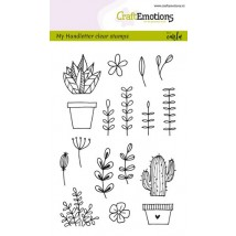 Craftemotions Clearstamps A6 - Handmade Floral