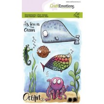 Craftemotions Clearstamps A6 - Ocean 2